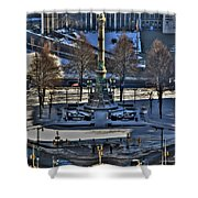 0037 Birdseye View Of Lafayette Square Shower Curtain