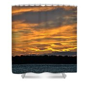 004 Awe In One Sunset Series At Erie Basin Marina Shower Curtain