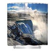 004 Niagara Falls Winter Wonderland Series Shower Curtain
