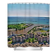 004 Visual Highs Of The Queen City Shower Curtain