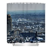 0045 After The Nov 2014 Storm Buffalo Ny Shower Curtain