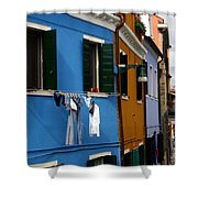 0049 Burano Colors 4 Shower Curtain
