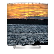 005 Awe In One Sunset Series At Erie Basin Marina Shower Curtain