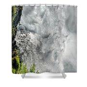 005 Niagara Falls Misty Blue Series Shower Curtain