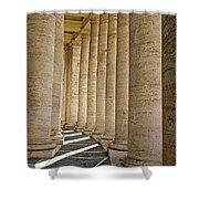 0056 Roman Pillars St. Peter's Basilica Rome Shower Curtain