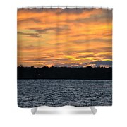 006 Awe In One Sunset Series At Erie Basin Marina Shower Curtain