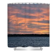 007 Awe In One Sunset Series At Erie Basin Marina Shower Curtain