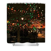 007 Christmas Light Show At Roswell Series Shower Curtain