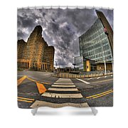 007 City Hall And The Court House Shower Curtain