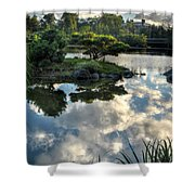 007 Delaware Park Japanese Garden Mirror Lake Series Shower Curtain