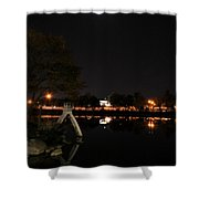 007 Japanese Garden Autumn Nights   Shower Curtain