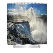 007 Niagara Falls Winter Wonderland Series Shower Curtain