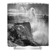 007a Niagara Falls Winter Wonderland Series Shower Curtain