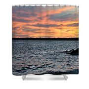 008 Awe In One Sunset Series At Erie Basin Marina Shower Curtain