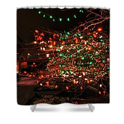 008 Christmas Light Show At Roswell Series Shower Curtain