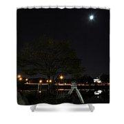 008 Japanese Garden Autumn Nights   Shower Curtain