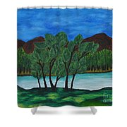 008 Landscape Shower Curtain