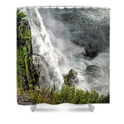 008 Niagara Falls Misty Blue Series Shower Curtain