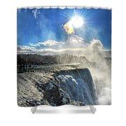 008 Niagara Falls Winter Wonderland Series Shower Curtain