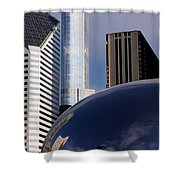 0081 The Bean And Trump Shower Curtain