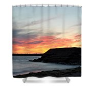 009 Awe In One Sunset Series At Erie Basin Marina Shower Curtain