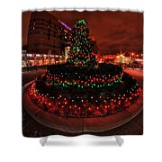 009 Christmas Light Show At Roswell Series Shower Curtain