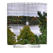 009 Hoyt Lake Autumn 2013 Shower Curtain