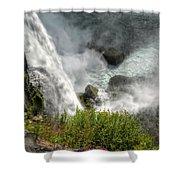 009 Niagara Falls Misty Blue Series Shower Curtain
