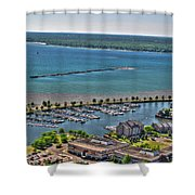009 Visual Highs Of The Queen City Shower Curtain