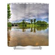 01 Reflecting At Hoyt Lake Series Shower Curtain