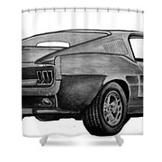 010-stang Shower Curtain