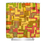 0101 Abstract Thought Shower Curtain
