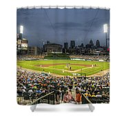 0101 Comerica Park - Detroit Michigan Shower Curtain by Steve Sturgill
