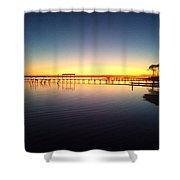 0103 Sunset Twilight On Santa Rosa Sound Shower Curtain