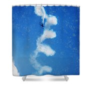 0107 - Air Show - Acanthus Shower Curtain