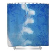 0107 - Air Show - Lux Shower Curtain