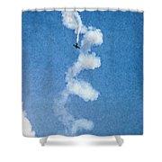 0107 - Air Show - Pastel Chalk 2 Hp Shower Curtain