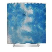 0107 - Air Show - Traveling Pigments Hp Shower Curtain