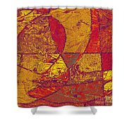 0119 Abstract Thought Shower Curtain