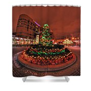 012 Christmas Light Show At Roswell Series Shower Curtain