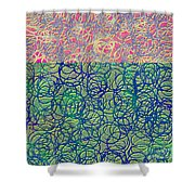 0122 Abstract Thought Shower Curtain
