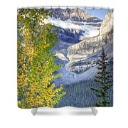 0141 Fall Colors On Icefield Parkway Shower Curtain