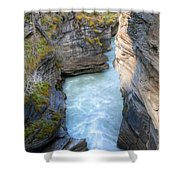 0142 Athabasca River Canyon Shower Curtain