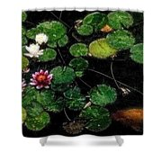 0148-lily -   Embossed Sl Shower Curtain