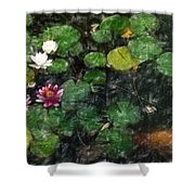 0148-lily -   Light Color Pencil Shower Curtain