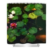 0148-lily -   Neo Shower Curtain
