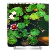 0148-lily -   Oil Stain Sl Shower Curtain