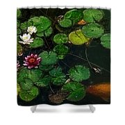 0148-lily -  Color Drawing Sl Shower Curtain