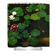 0148-lily -  Colored Photo 1 Shower Curtain