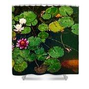 0148-lily -  Expressionist Plein Air Sl Shower Curtain